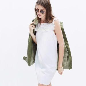 Madewell White Sundream Fringe Shift Dress